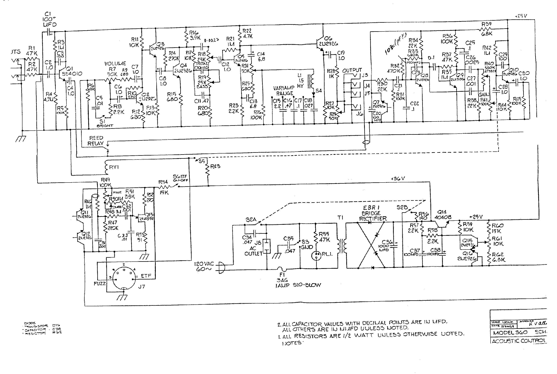 усилитель гитарный схема транзисторный