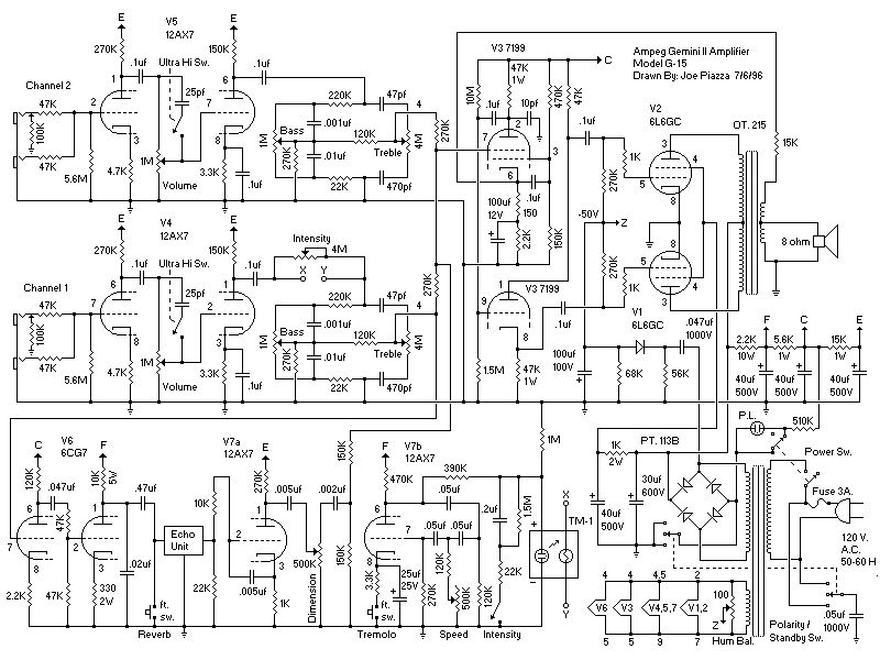 Схема Ampeg-Gemini II