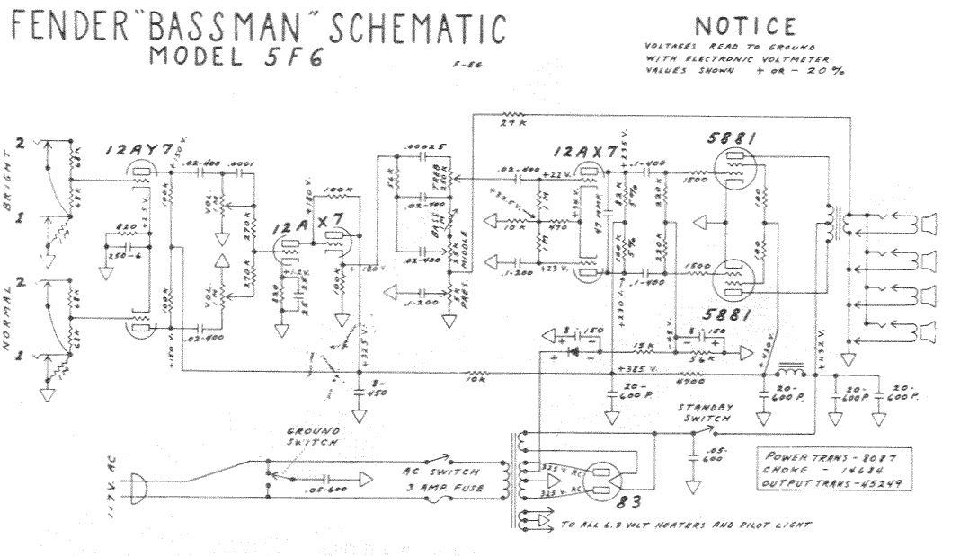 Схема Fender-Bassman 5F6