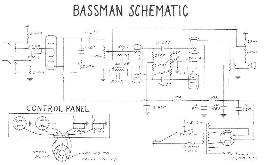 Схема Fender-Bassman SF