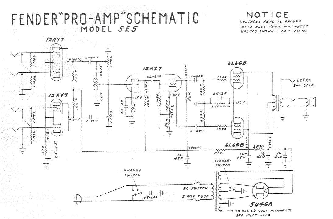 Fender Acoustasonic Pro Amplifier Schematic Diagram