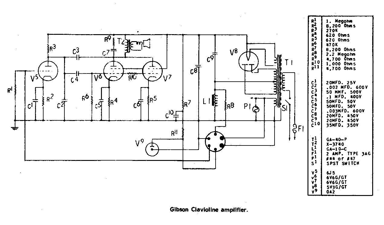 Gibson Clavioline Amplifier Guitarwork Ru