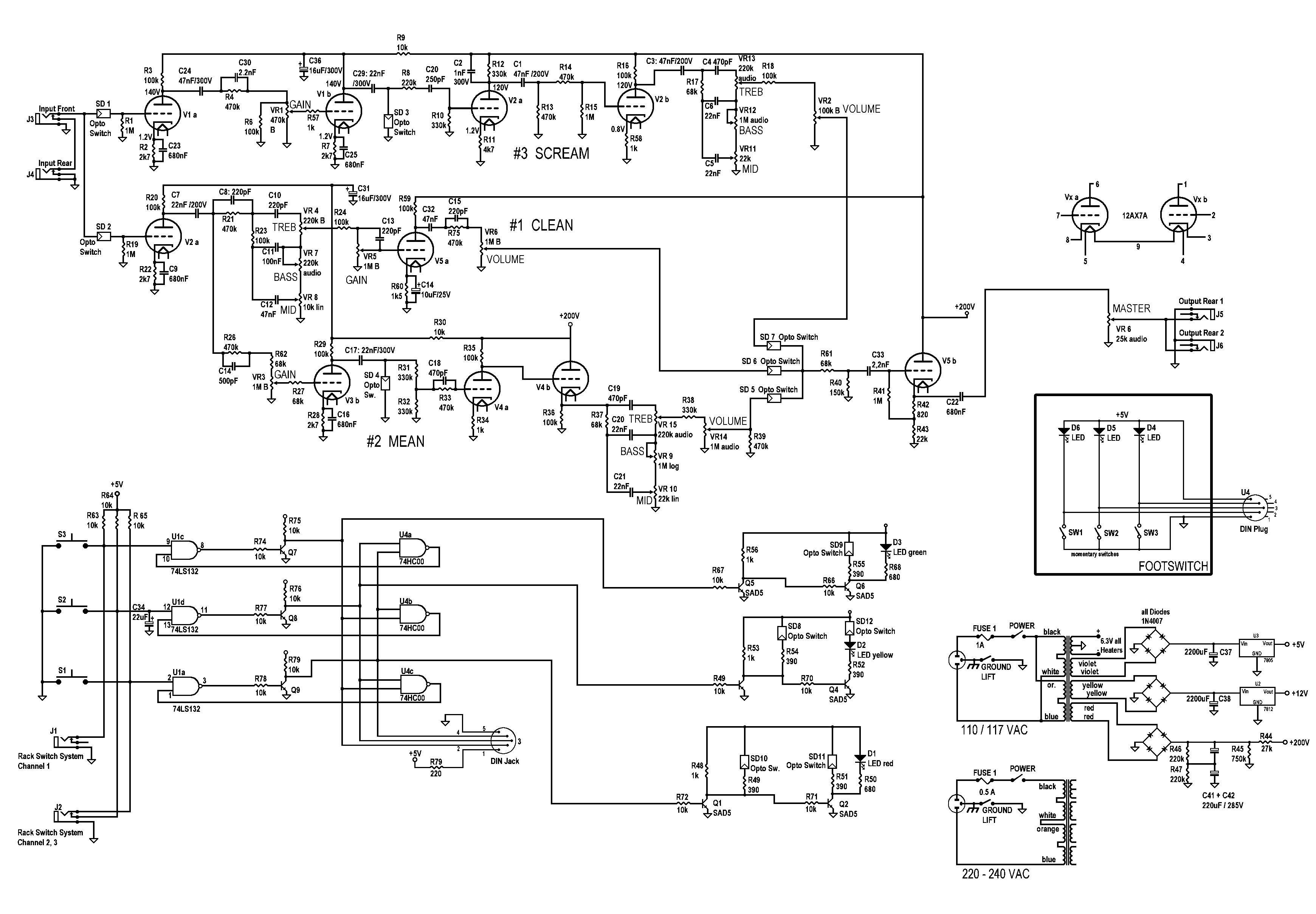 Преамп схема на транзисторах