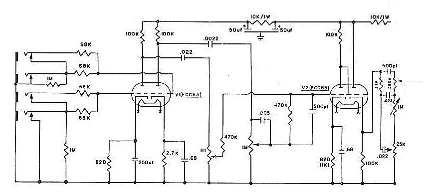 Схема Marshall - 1959 Super Lead Preamp GuitarWork.ru