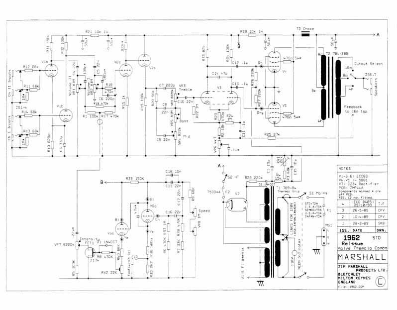 Схема Marshall-1962 JTM 45