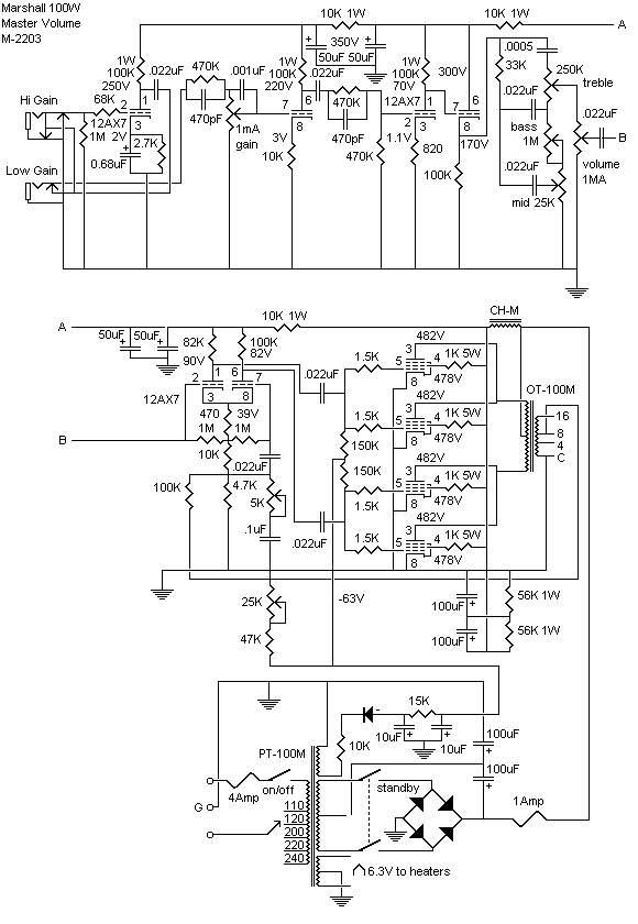 JCM 800 SCHEMATIC.