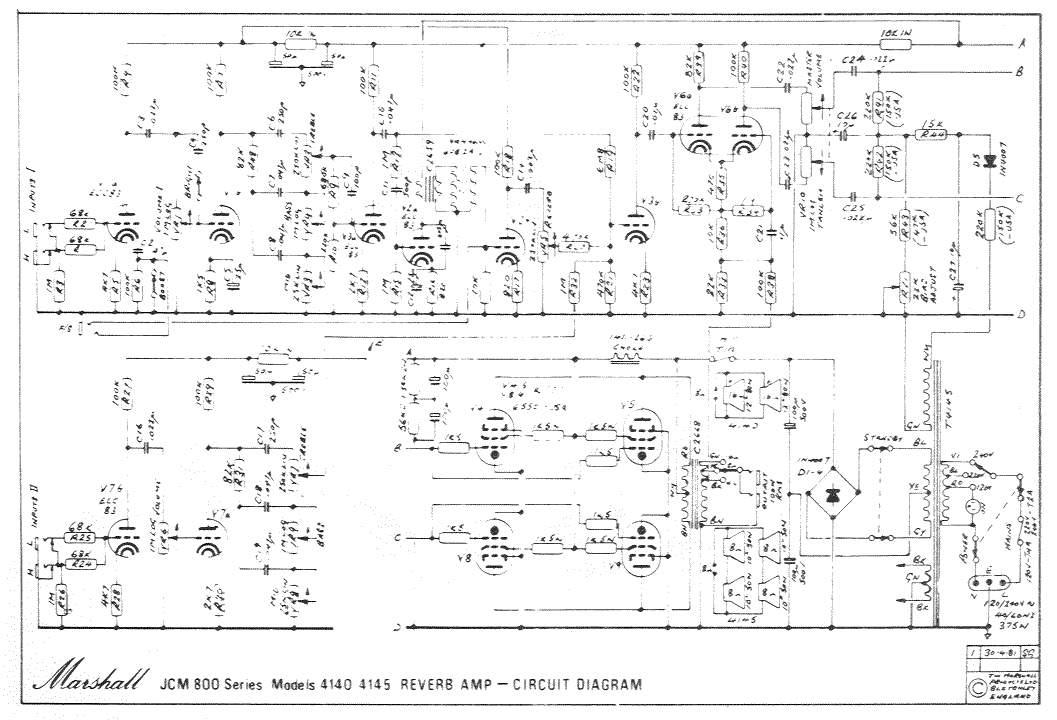 Схема Marshall-JCM 800 Reverb