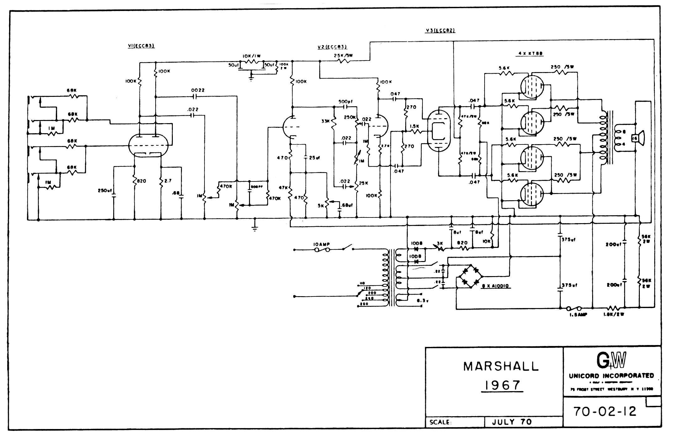 Amp Archives/Marshall/Schematics & Layouts/Marshall Amp Schematics/200 Watt Heads/1978 200W Bass/1978u.