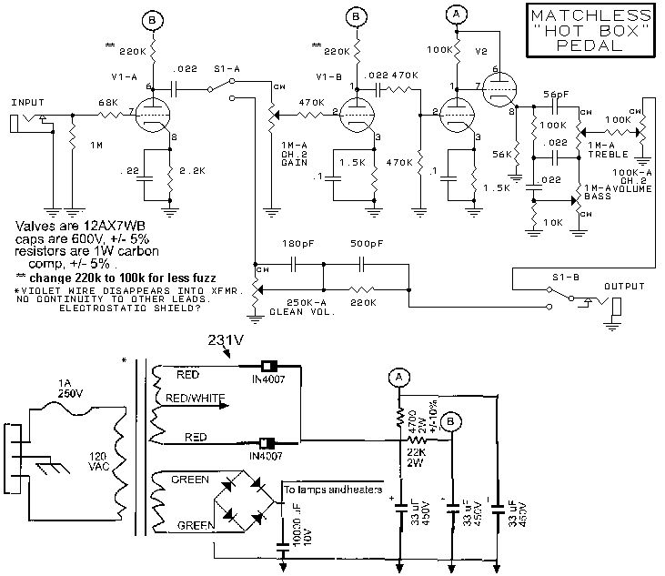 Ламповый предварительный усилитель.  Схема добавлена: 24.02.10.
