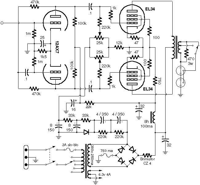 ламповый hi-fi усилитель 6п3с схема - Практическая схемотехника.