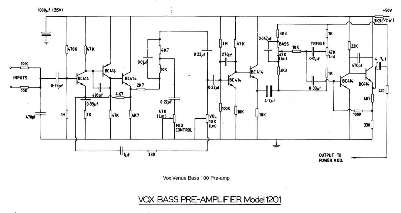 Схема комбоусилитель на бас