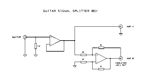Схема Other-Guitar signal splitter box