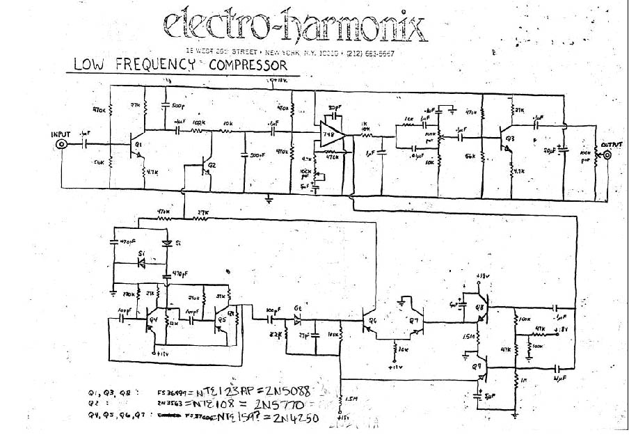 Схема Electro Harmonix-Low Frequency Compressor