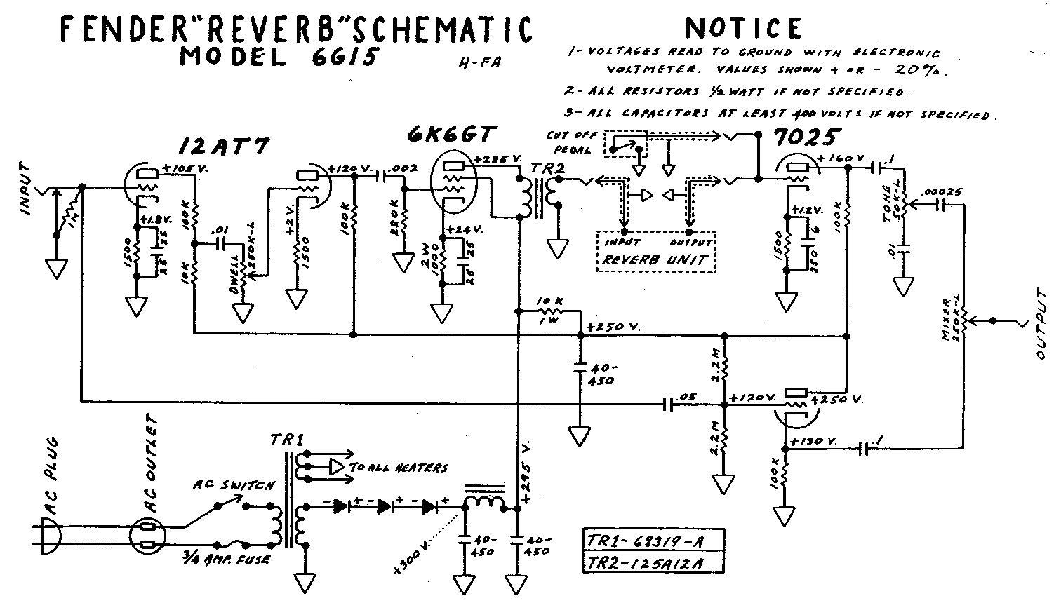 Схема Fender-Reverb 6G15
