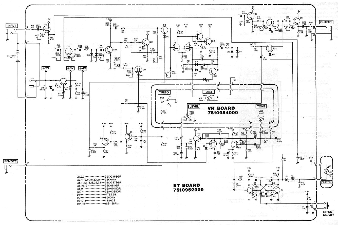 This schematic for the BOSS DS-2 was taken from the great people over at the Free Information Society here.