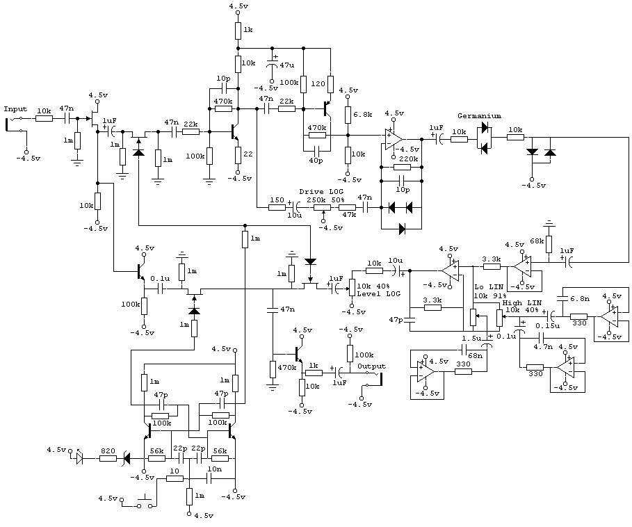 Дисторшн на ОУ и транзисторах