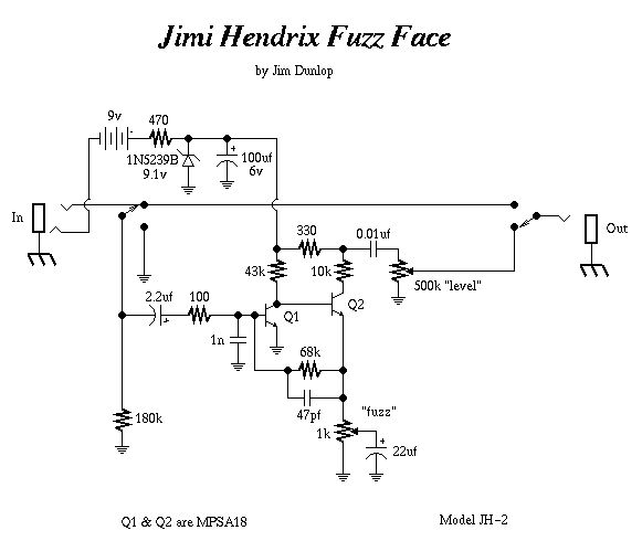 Схема Other-Dunlop - Jimi Hendrix Fuzz Face JH-2