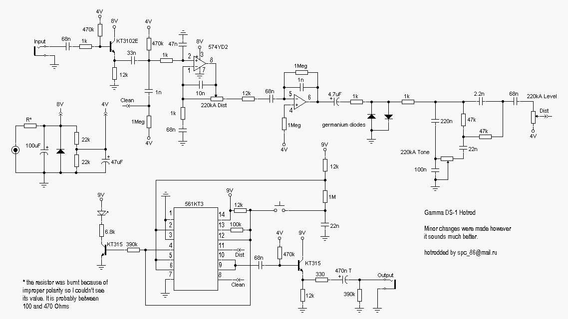 Схема Gamma-DS-1 Hotrod