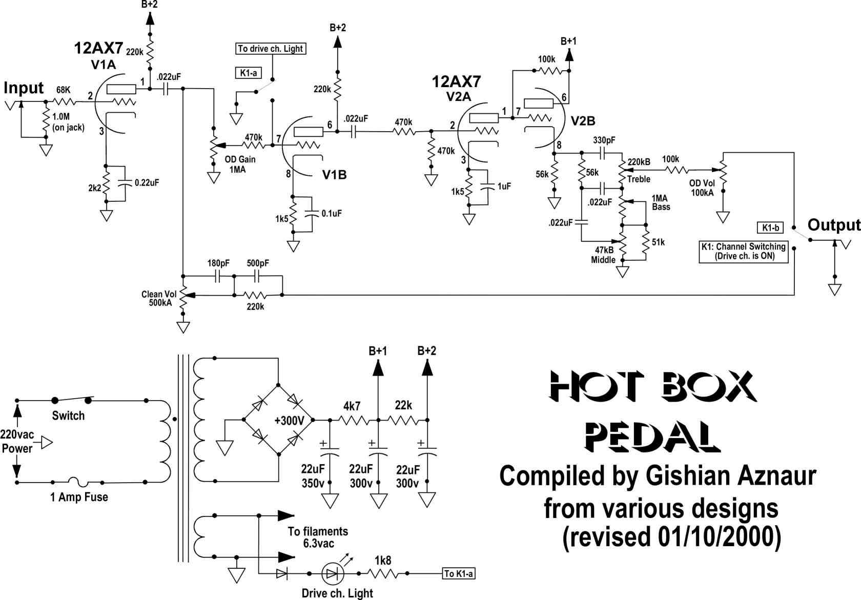 простой усилитель на транзисторах и оу схема