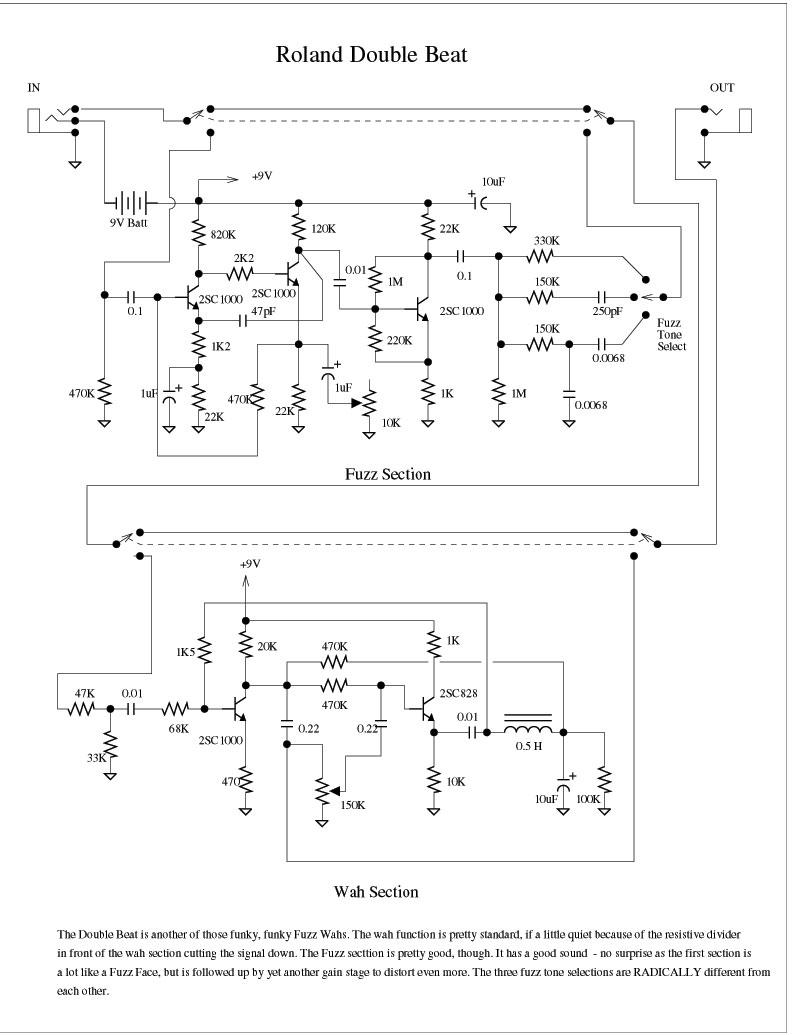 Dan Amstrong Blue Clipper Guitar Effect Circuit Diagram Vox Distortion Pedal 1901