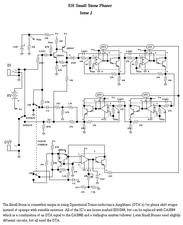 Фазовращатель на транзисторах