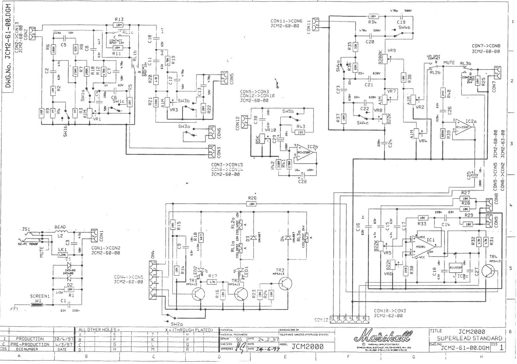 Marshall Jcm 2000 Dsl 50 Schematic Domainslost Prs Hfs Pickup Wiring Diagram