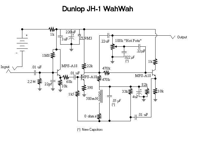 Схема Dunlop-Jimi Hendrix Wah