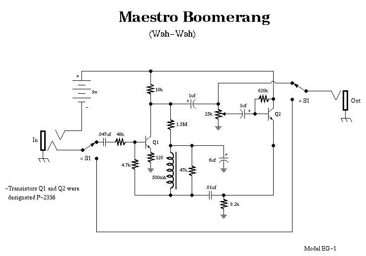 Схема Maestro-Boomerang EG-1