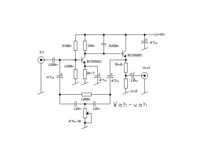 Схема Other-Wah Wah v2