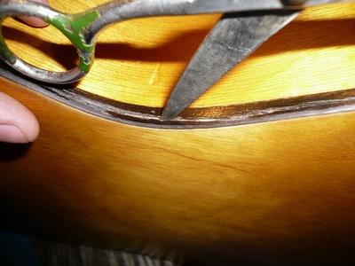 Ремонт трещины в деке