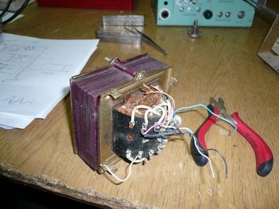 Силовой трансформатор от лампового бобинника