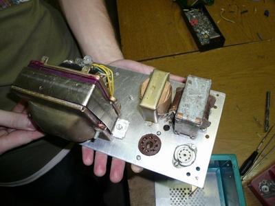 DL-55. Шасси с установленными трансформаторами