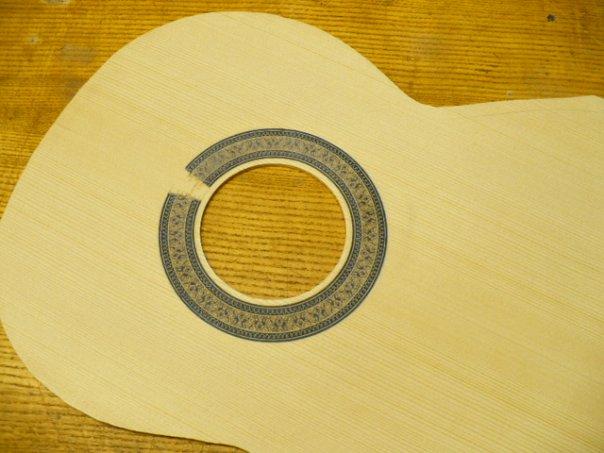 наклейка на розетку гитары