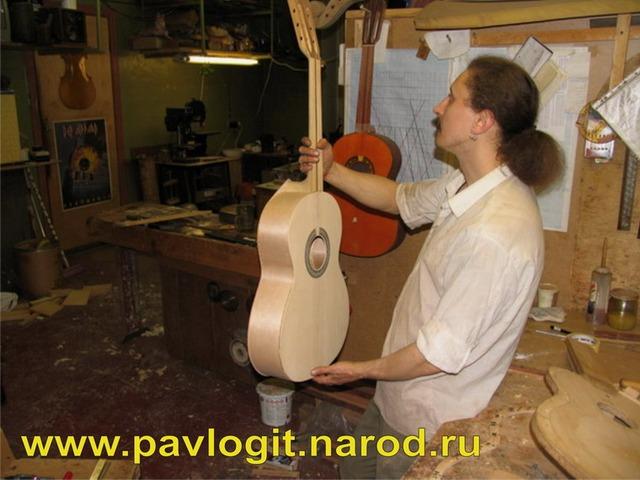 Создание акустической гитары. Фотосет. Гитарный мастер Павлович Дмитрий.