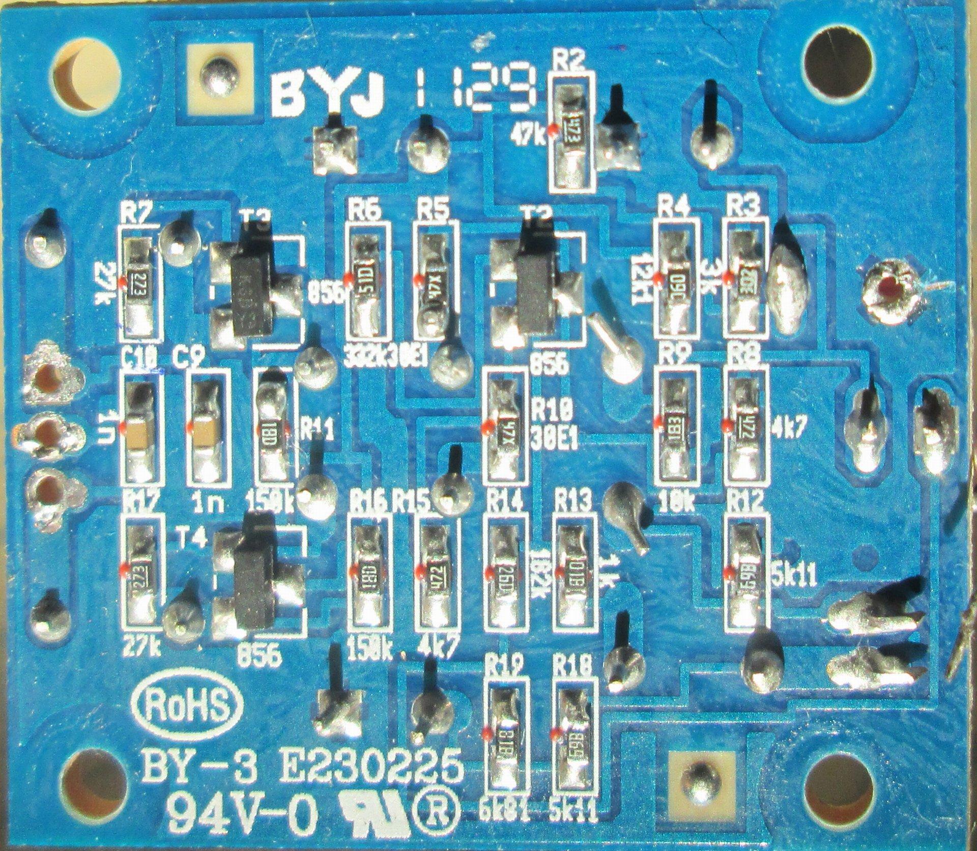 схема и печатная плата гитарного компрессора